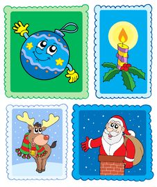 Free Christmas Post Stamps Collection Royalty Free Stock Photos - 6876898