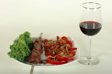 Image Of Grilled Meat Royalty Free Stock Image