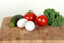 Vegetables And Eggs Stock Photo