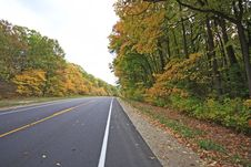 Fall In Michigan On State Highway 63 Royalty Free Stock Image