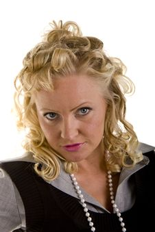 Free Curly Blonde Sexy Look Royalty Free Stock Image - 6878156