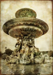 Free Parisian Fountain Royalty Free Stock Image - 6878506