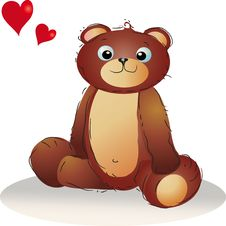 Free Teddybear In Love Royalty Free Stock Photography - 6878897