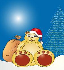Free Santa Claus Teddy Bear Royalty Free Stock Images - 6878949