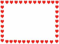 Free Hearts Frame Royalty Free Stock Photo - 6879075