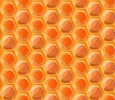 Free Tasty Honey Honeycombs, Seamless Pattern Stock Photography - 68756692