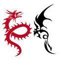 Free Two Dragons Royalty Free Stock Photo - 6888135