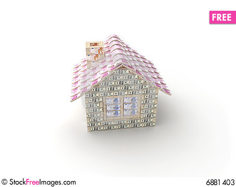 Free The House Made Of 100 Dollar Stock Photos - 6881403