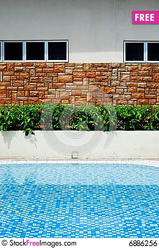 Brick wall near swimming pool free stock images photos - Where is my nearest swimming pool ...