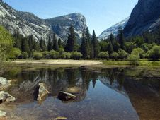 Free Mirror Lake, Yosemite Stock Image - 6880151