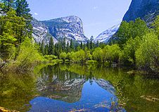 Free Mirror Lake, Yosemite Stock Photography - 6880152
