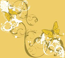 Free Grungy Butterflies Stock Images - 6880354