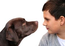 Free Boy And Dog Stock Photos - 6880553