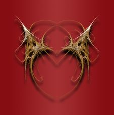 Free Fractal Filigree Heart Stock Photography - 6880792