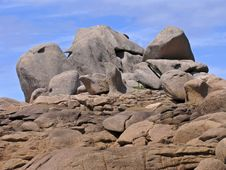 Free Rocks Near Ploumanach, Brittany, France Stock Images - 6881144