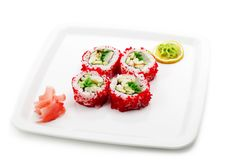 Free Japanese Cuisine - Rolls In Caviar Royalty Free Stock Photo - 6881205