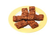 Free Brownies On Plate Royalty Free Stock Images - 6882279