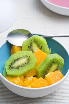 Free Dessert Of Kiwi And Orange Royalty Free Stock Photos - 6882918