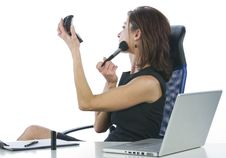 Free Successful Business Woman Making Up Looking Someth Royalty Free Stock Photos - 6883078