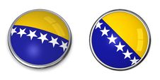 Free Banner Button Bosnien Herzegovina Stock Photography - 6883112