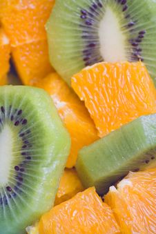 Free Dessert Of Kiwi And Orange Royalty Free Stock Photo - 6883175