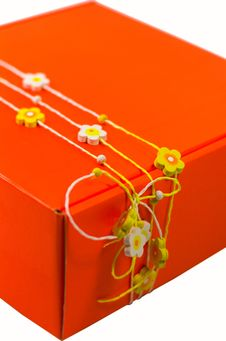 Orange Gift Box Stock Photo