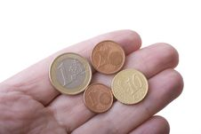 Free Euro Coins On Fingers Royalty Free Stock Photo - 6883595
