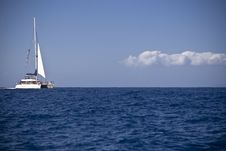 White Catamaran Stock Photography