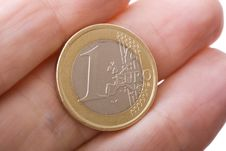 Free One Euro Close Up Stock Image - 6883731
