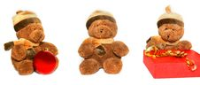 Free Teddy Bear Over White Stock Photo - 6883960