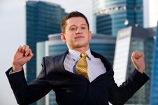 Free Businessman Standing With Outstretched Arms Stock Photography - 6884192