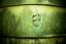 Free The Number Eight On A Grain Silo Stock Image - 6884301