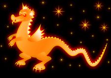 Free Glowing Dragon Royalty Free Stock Photos - 6884698