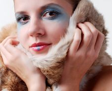 Free Woman And Fur Royalty Free Stock Photos - 6884878