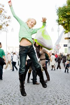 Free Jumping On The Streets Stock Photography - 6885322