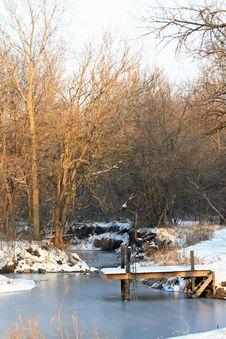 Winter Swimming Hole Stock Image