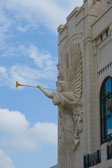 Angel On A Building Stock Photography