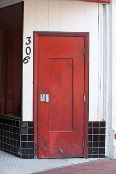 Free An Image Of A Red Wooden Door Royalty Free Stock Image - 6885966
