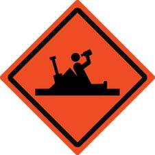 Free Roadsign Work Ahead - Fun Stock Image - 6886121