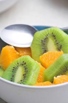 Free Dessert Of Kiwi And Orange Stock Photo - 6886500