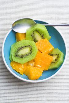 Free Dessert Of Kiwi And Orange Royalty Free Stock Photography - 6886537