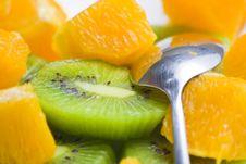 Free Dessert Of Kiwi And Orange Royalty Free Stock Photography - 6886557