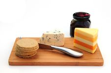 Cheese And Crackers Stock Image