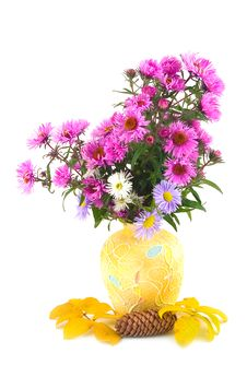 Free Autumn In Yellow Vase Royalty Free Stock Images - 6886839