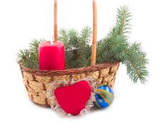 Free Candle In Basket Stock Photo - 6886870