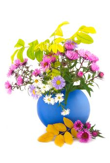 Free Flowers In Blue Vase Stock Images - 6886884