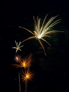 Free Fireworks On Black Royalty Free Stock Images - 6887029