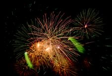 Free Fireworks On Black Royalty Free Stock Images - 6887039