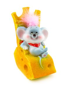Toy Mouse And Cheese Royalty Free Stock Photography