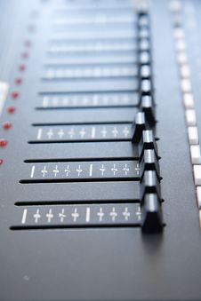 Free Sound Equalizer Console Stock Photo - 6887530